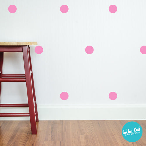 High Quality Bubble Gum Pink Polka Dot Wall Decals Amazing Ideas