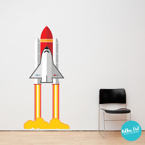 Peel and Stick Spaceship Wall Decal