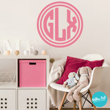 Circle Monograms for Girls Rooms