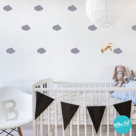 Cloud Wall Decals By Polka Dot Wall Stickers ...