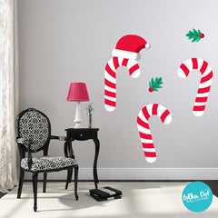 Peel and Stick Candy Cane Wall Decals by Polka Dot Wall Stickers