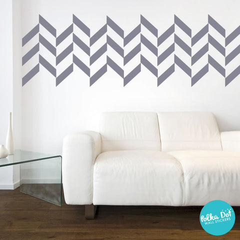 Half Chevron Wall Decals by Polka Dot Wall Stickers