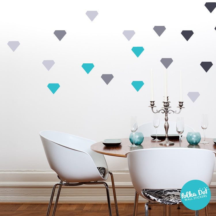 Diamond Wall Decals Easy To Apply Apartment Safe Polka Dot