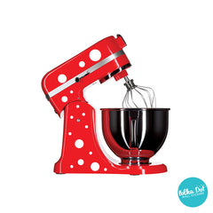 Polka dot stickers for small appliances