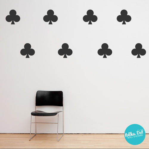 Card Club Symbol Wall Decals Apartment Safe And Easy To Apply Wall