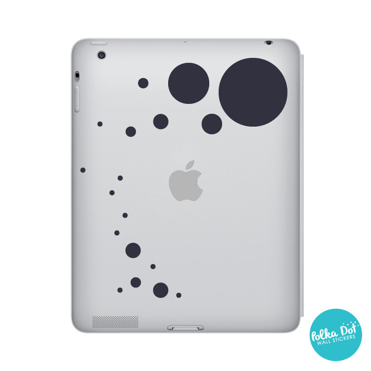 Polka dot stickers for small electronics iPad / tablet / laptop