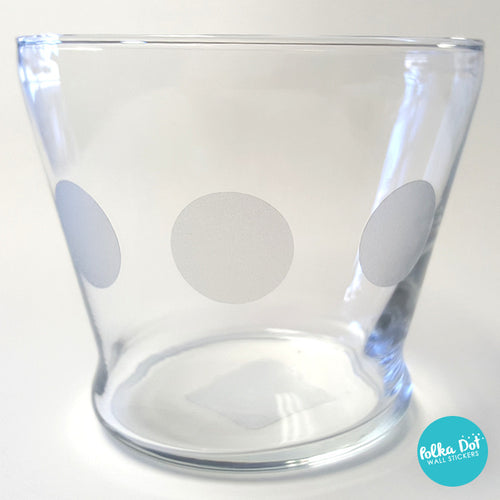 Etched Glass Vinyl Decals by Polka Dot Wall Stickers
