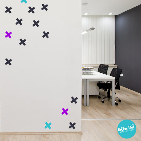 X wall decals by Polka Dot Wall Stickers