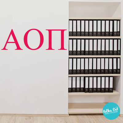 Alpha Omicron Pi wall decals by Polka Dot Wall Stickers