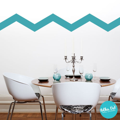Wide Chevron Wall Decals 12 H X 24 W Polka Dot Wall Stickers