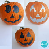 Jack-O-Lantern Pumpkin Stickers by Polka Dot Wall Stickers