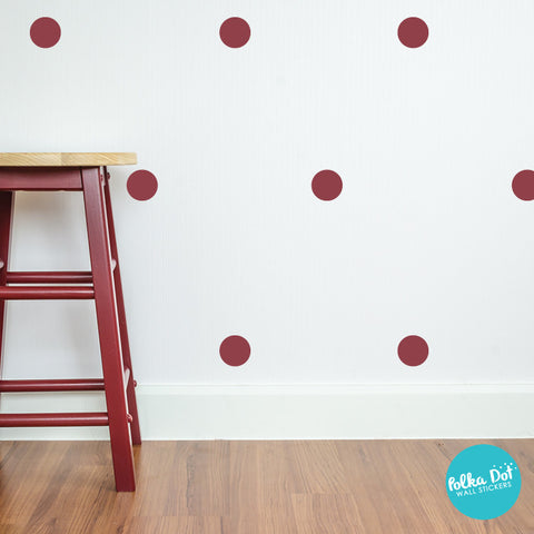 Burgundy Polka Dot Wall Decals