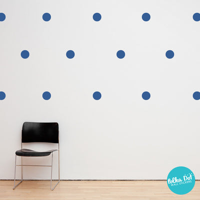 Gentian Blue Polka Dot Wall Decals
