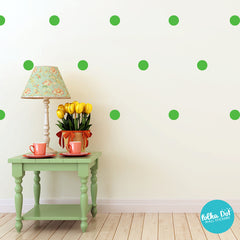 Light Green Polka Dot Wall Decals