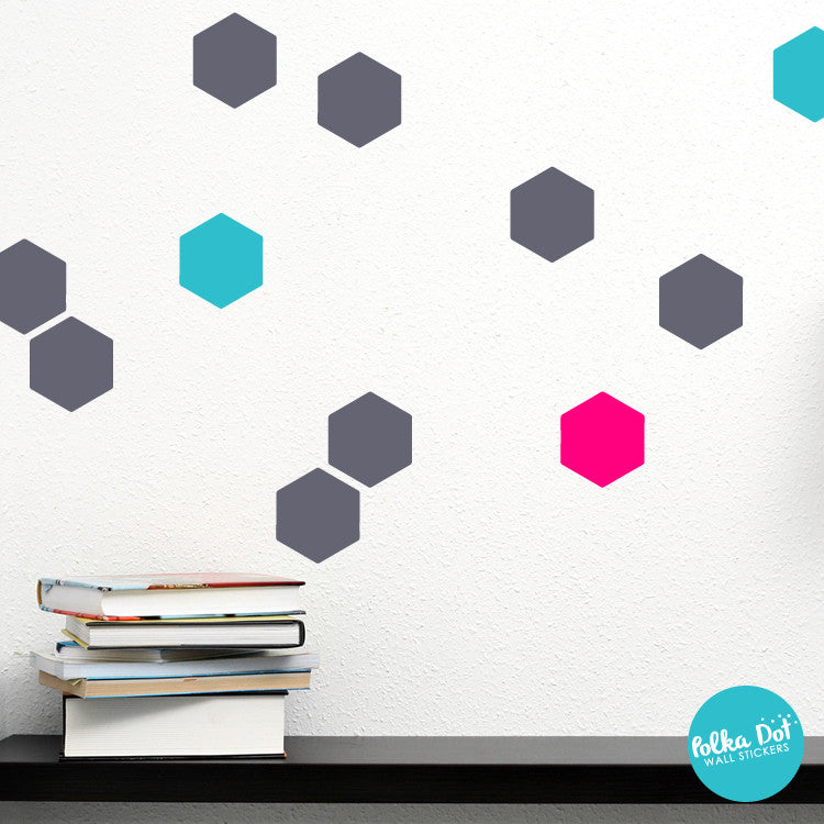 Hexagon Wall Decals by Polka Dot Wall Stickers
