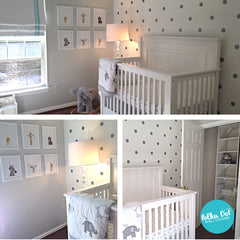 Silver Polka Dot Wall Decals by Polka Dot Wall Stickers