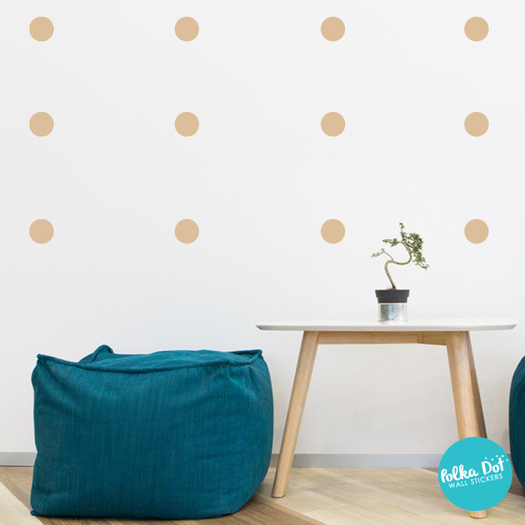 Saffron Polka Dot Wall Decals by Polka Dot Wall Stickers