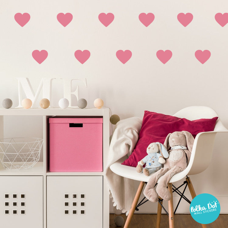 Heart Wall Decals by Polka Dot Wall Stickers