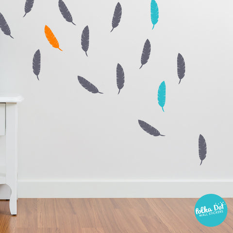 Single Color Feather Wall Decals