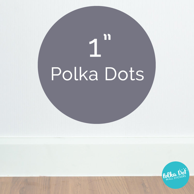 6 Six Inch Polka Dot Wall Decals Peel Stick Polka Dot Wall