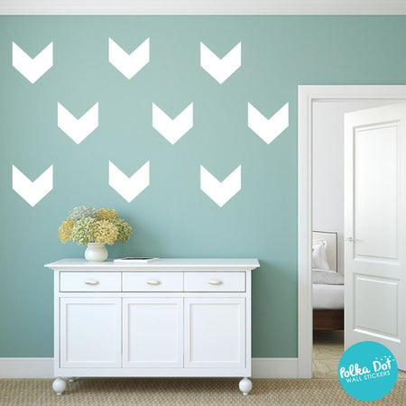Superieur Short Chevron Wall Decals By Polka Dot Wall Stickers ...
