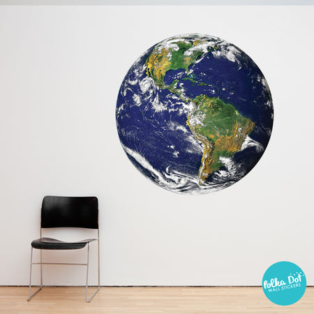 Earth Wall Decals By Polka Dot Wall Stickers ...