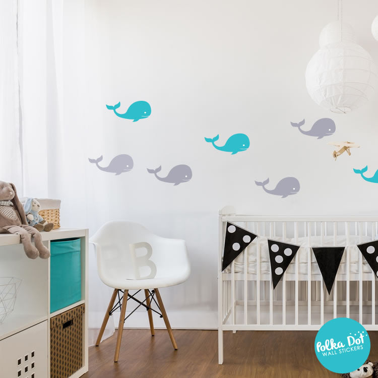 Whale Wall Decals by Polka Dot Wall Stickers