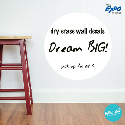 Dry Erase Polka Dot Wall Decals by Polka Dot Wall Stickers