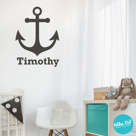 Anchor Monogram Wall Decals by Polka Dot Wall Stickers