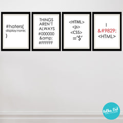 HTML Life Wall Decals by Polka Dot Wall Stickers