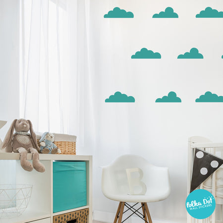 Floating Cloud Wall Decals By Polka Dot Wall Stickers ...