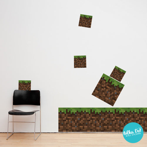Pixel Ground Block Wall Decal