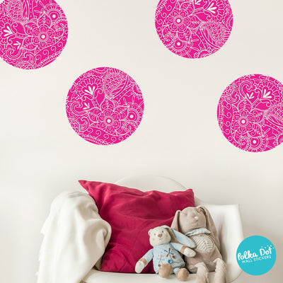 Paisley Polka Dot Wall Decals 8 Colors