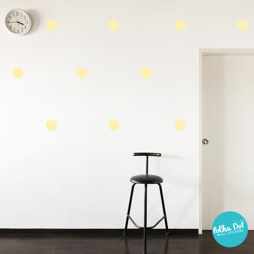 Pastel Yellow Polka Dot Wall Decals