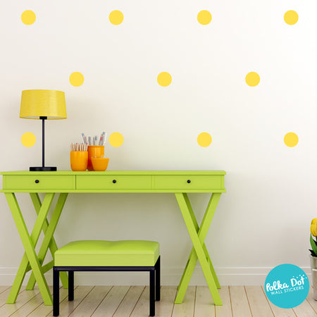 Yellow Polka Dot Wall Decals