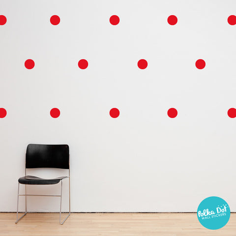 Red Polka Dot Wall Decals
