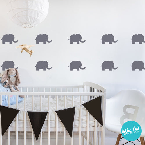 Cute Elephant Wall Decals by Polka Dot Wall Stickers
