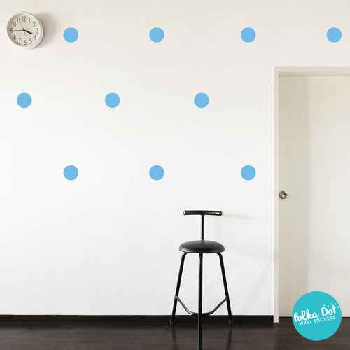 Ice Blue Polka Dot Wall Decals
