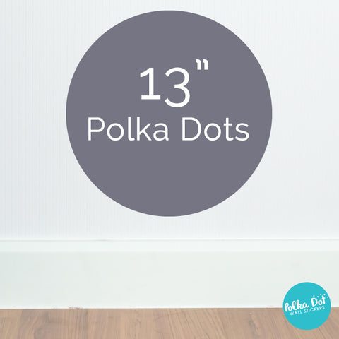 Thirteen inch polka dot wall decals by Polka Dot Wall Stickers
