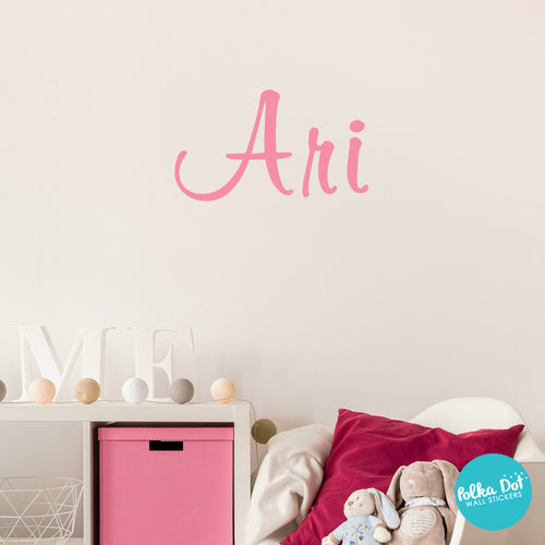 Ari's Script Custom Name or Word Wall Decals
