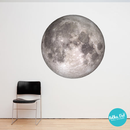 Full Color Moon Wall Decal By Polka Dot Wall Stickers ...