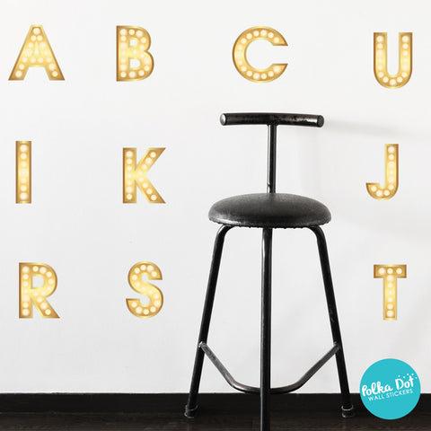Theater Letter Alphabet Wall Decals by Polka Dot Wall Stickers
