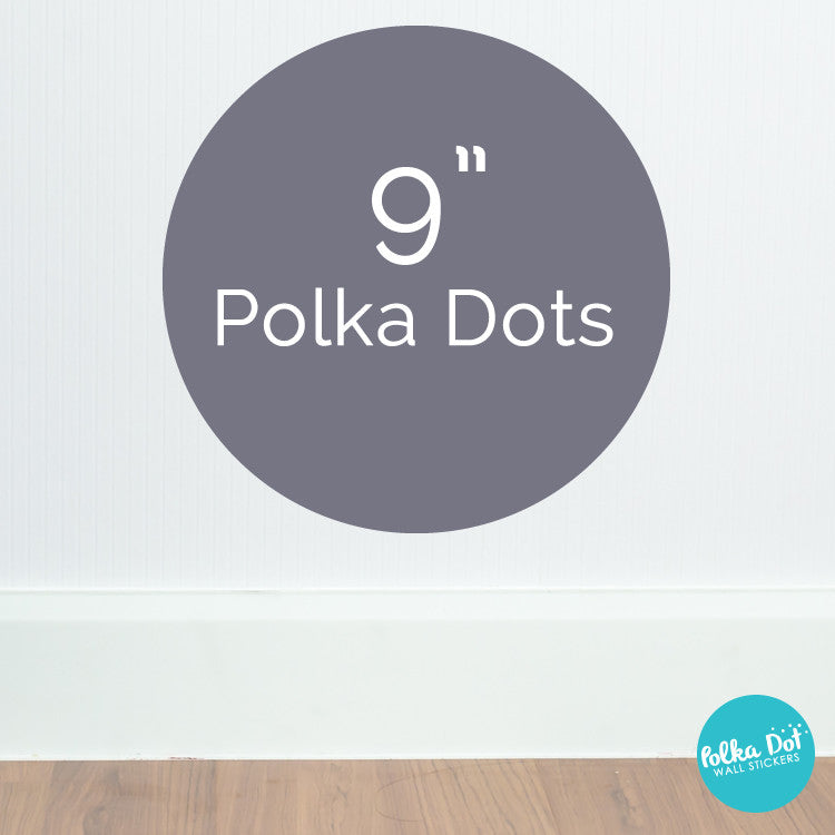 Nine inch polka dot wall decals by Polka Dot Wall Stickers