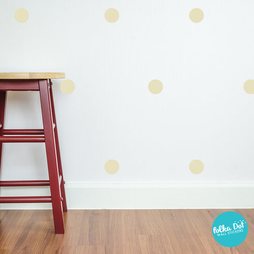Beige Polka Dot Wall Decals