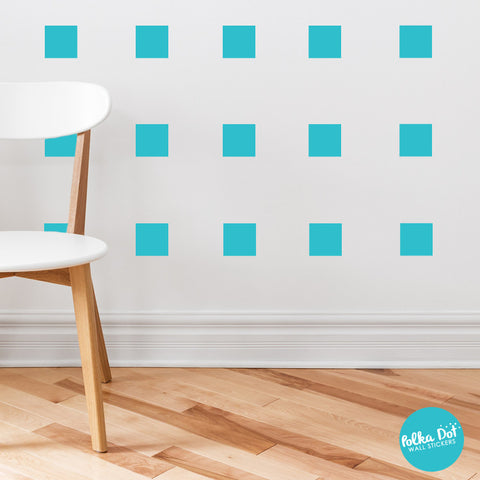 Square Wall Decals by Polka Dot Wall Stickers