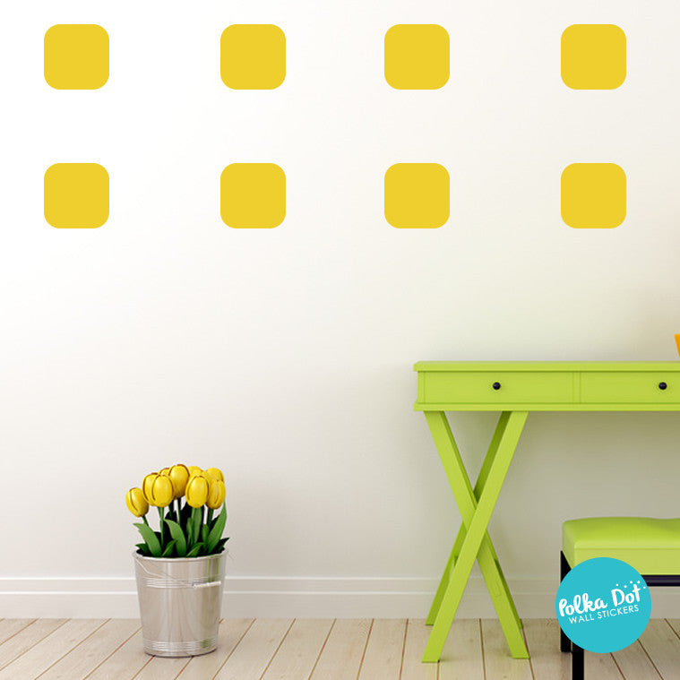 Round Square Wall Stickers
