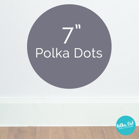Seven inch polka dot wall decals by Polka Dot Wall Stickers