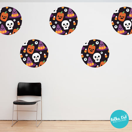 Cute Halloween Cartoon Face Wall Stickers