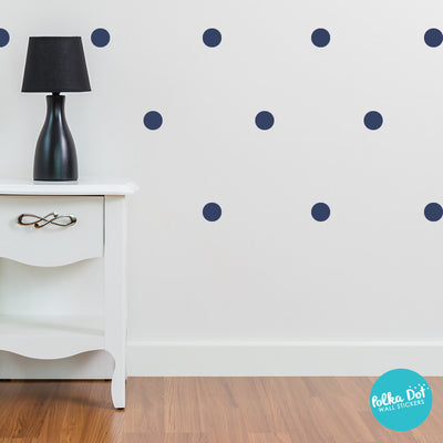 Dark Blue Polka Dot Wall Decals