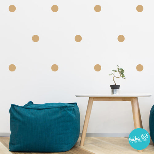 Light Brown Polka Dot Wall Decals